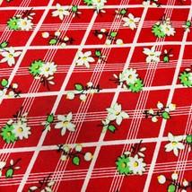 Windham Fabrics 1930 Feedsack retro pattern red plaid flowers - $18.50