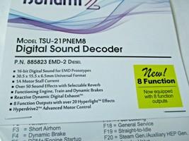 Soundtraxx 885823 Tsunami 2 TSU-PNEM8 Sound Decoder EMD-2 Diesel, 8 Function image 2