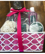 NWT Lovery 6 Piece Rosemary And Mint Home Spa Gift Basket Bath Set Mothe... - $23.75