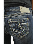 SILVER JEANS SALE Buckle Cheap Low Rise Twisted Capri Cropped Stretch Je... - $46.72
