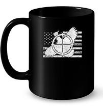 Quail Hunter American Flag Patriotic Hunting Ceramic Mug - $13.99+