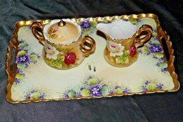 Cream and Sugar with Serving tray (Lefton) #1867 AA20-2390 Vintage