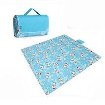Extra Large Picnic Blanket Waterproof Travel Blanket Blue 79*79 inch - $73.23