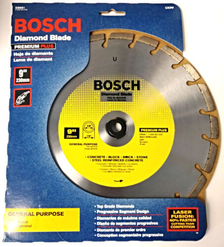 "Primary image for Bosch DB961 9"" Premium Plus General Purpose Diamond Blade Switzerland"