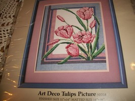 Something Special Counted Cross Stitch Art Deco Tulips Picture Kit 50318  - $25.00