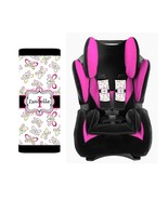 PERSONALIZED BABY TODDLER CAR SEAT STRAP COVERS STROLLER BUTTERFLIES PIN... - $14.68