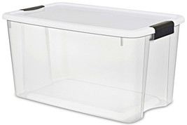 Latching Clever Store Containers Tool Organizers Clear Holders 4 Pack Wh... - $110.10