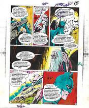Original 1975 Batman Brave and the Bold 120 DC comic color guide art: Ji... - $69.99