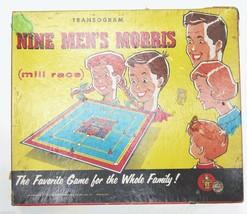 Vintage Transogram Nine Men's Morris 1955 Board Game Complete in Box 195... - $22.67