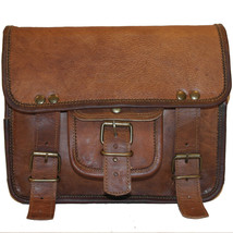 Vintage Brown Leather 1 Side Motorcycle Side Pouch Saddlebags Saddle Bag - $55.04