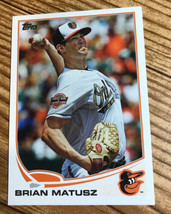2013 Topps #217 Brian Matusz Baltimore Orioles - $1.50