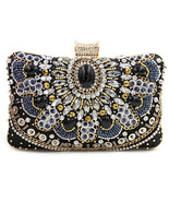 Women Clutch Ladies Diamond Day Clutches Purses Female Beaded Bag With C... - $32.38