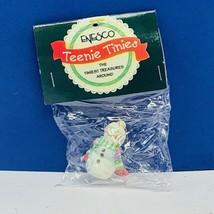 Enesco Teenie Tinies Treasure SEALED miniature figurine ornament 1998 Snowman - $16.35