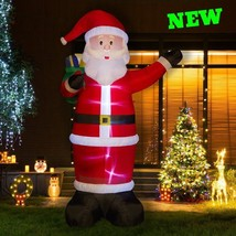 Outdoor Lighted Santa Inflatable Christmas Prelit Blower Lawn Yard Patio... - $176.02