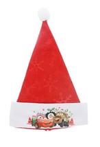 Disney Pixar Cars Lightning McQueen & Tomater Felt Santa Hat with Emboss... - $15.99