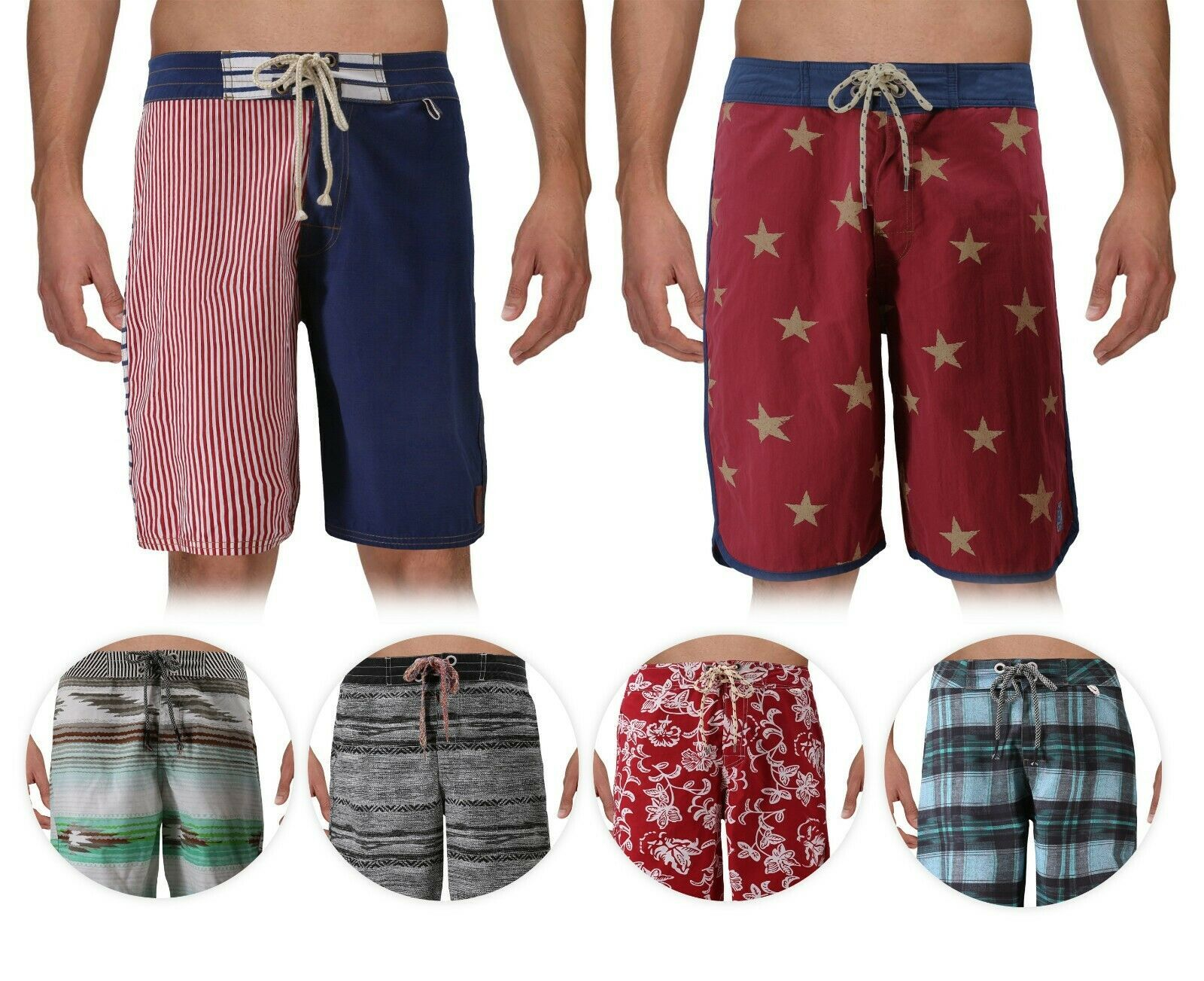Men's Sport Swimwear Board Shorts Summer Vacation Beach Surf Swim Trunks