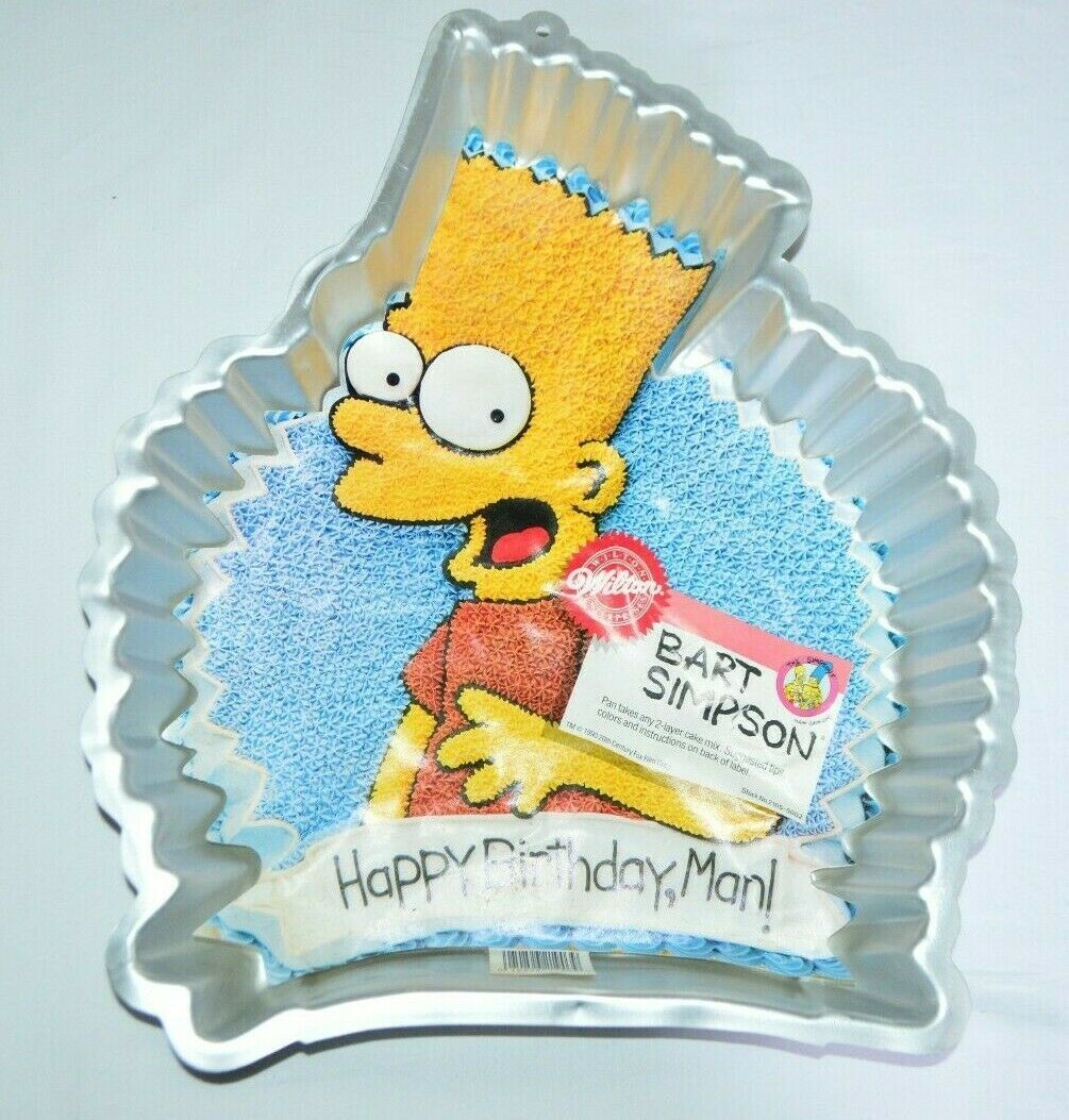 Primary image for 1990 Wilton Bart Simpson Simpsons Birthday Party Cake Pan Mold #2105-9002 New