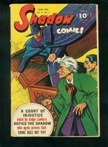 SHADOW COMICS v.6 #3 1946-SHADOW-DOC SAVAGE-PLAYING CARDS-fine FN - $181.88