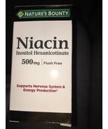 Natures Bounty Niacin Inositol Hexanicotinate 500Mg Flush Free 50 Capsul... - $12.86