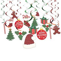 Juvale 30-Pack of Hanging Christmas Decorations - Festive Xmas Swirl Dec... - $17.00