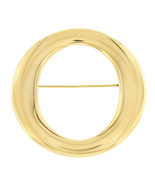 Tiffany & Co. Elsa Peretti Spain 18K Yellow Gold Sevillana O Large Pin B... - $1,576.35