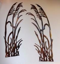 """Sea Oats Pair of 2 copper/bronze Metal Wall Art 20"""" - $39.58"""