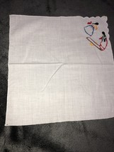 Vintage Hand Embroidered Hankerchief Hanky Cultural - $9.90