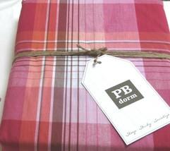 Pottery Barn Teen Duvet Cover Twin Prescott Plaid Pink Brown Country PB ... - $29.66