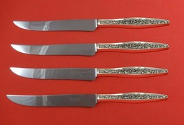 Renaissance Scroll by Reed Barton Sterling Steak Knife Set Texas Sized C... - $247.10