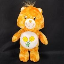 """Friend Bear Care Bear Plush Stuffed Animal Orange w/ Flowers 11"""" Heart  - $13.85"""