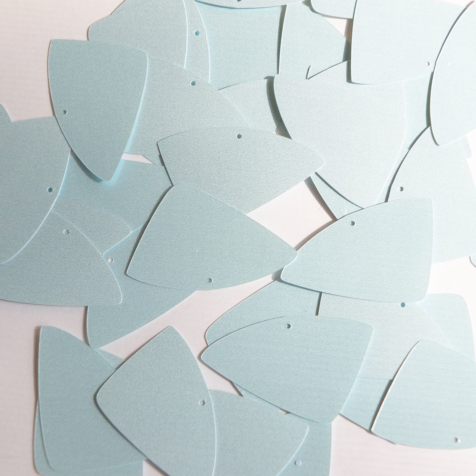 "Primary image for Fishscale Fin Sequin 1.5"" Baby Blue Opaque Satin Pearl Loose Couture Paillettes"