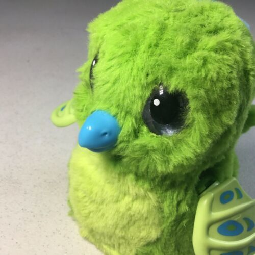 HATCHIMALS Spin Master Draggle Blue Green Interactive Dragon Hatched No Egg