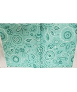 "FLANNEL BACK VINYL TABLECLOTH 52"" x 104"" (8-10 ppl) FLOWERS DESIGN ON AQ... - $17.81"