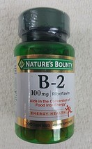 Nature's Bounty Vitamin B2 100 mg Riboflavin 100ct  Exp3/21 - $10.84