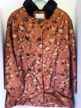 Lee Zel Collection Women's 3/4 length coat Copper Color Faux Fur Collar ... - $42.08