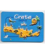 Greece Souvenir Fridge Magnet - Crete 9.5cm X 6.5cm - $7.67
