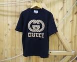 Vintage Men's Oversize Cotton T-shirt with Interlockin G - £49.12 GBP