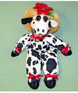 "23"" Vannah's OMAYGA-BOVANNAH VENTURE COW Plush Straw Hat Bell Red Flower... - $24.75"