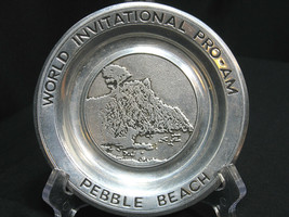 Pebble Beach Pewter Plate World Invitational Pro Am Golf Wilton USA 6 inch - $22.79