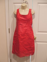 Nwt $229 Newport News Berry Fully Lined All Leather DRESS- Sleeveless Size 10 - $96.52