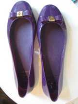 TONY BURCH Size 7 / 38 Purple / Plum Slip On Flats -Garden Beach Water R... - $25.85