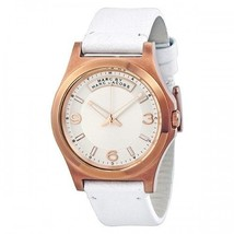 Marc Jacobs Women's Baby Dave Gold Tone White Leather Watch 40mm MBM1260 - $69.99