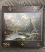 """Thomas Kinkade 1000 Piece Jigsaw Puzzle """"Mountain Majesty"""" 27 X 20 3310-17 - $29.99"""