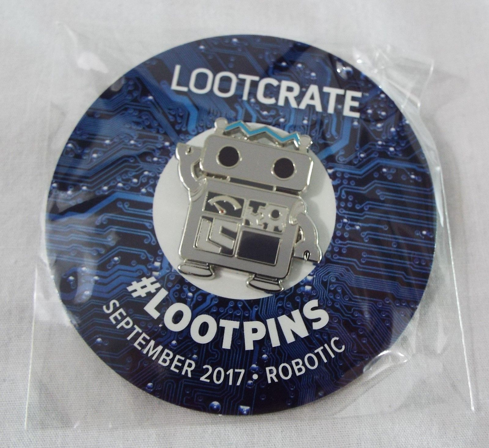 Primary image for Lootcrate Exclusive Lootpins Robot  1.5 inch September 2017 Robotic NIP