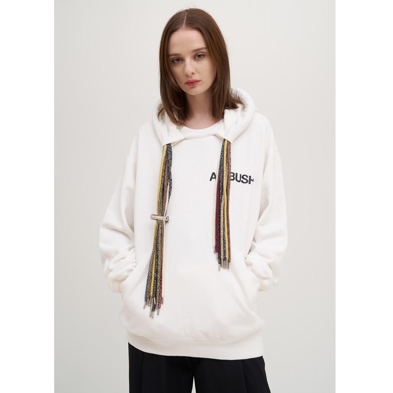Ambush white multi cord logo hoodie 1