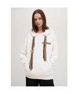 Unisex Ambush White Cotton Multi-cord Logo Hoodie Sweatshirt - $385.00