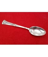 "Danish Hammered Handle Silverplate Serving Spoon Two Tower Mark 8 1/8"" - $14.84"