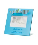 Picture Photo Frame Blue Welcome Little One Baby Boy Ribbon Decor Gift Box - $9.89