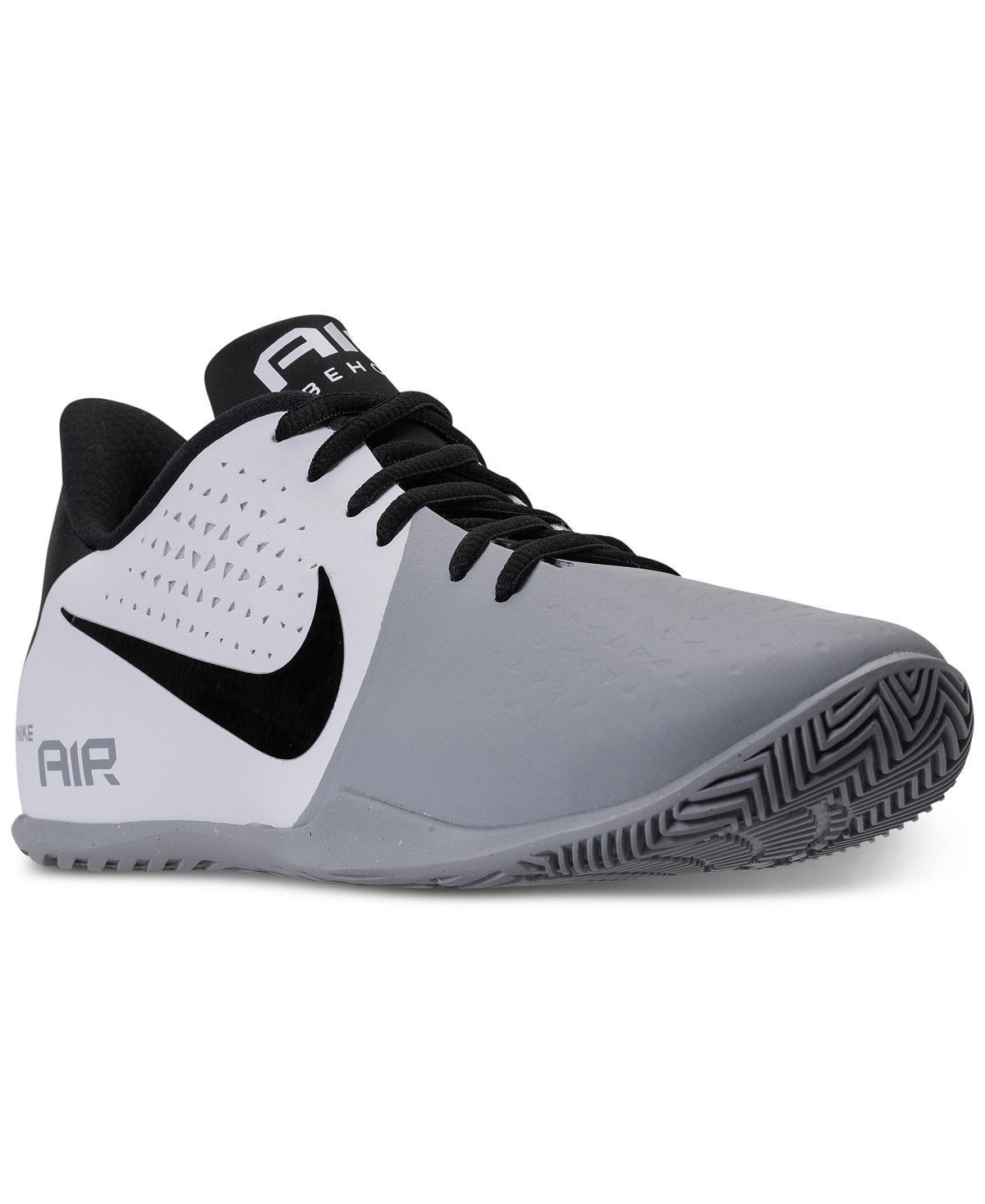 Men's Nike Air Behold Low Basketball Shoes 898450 101 Multip Sizes White/Black/