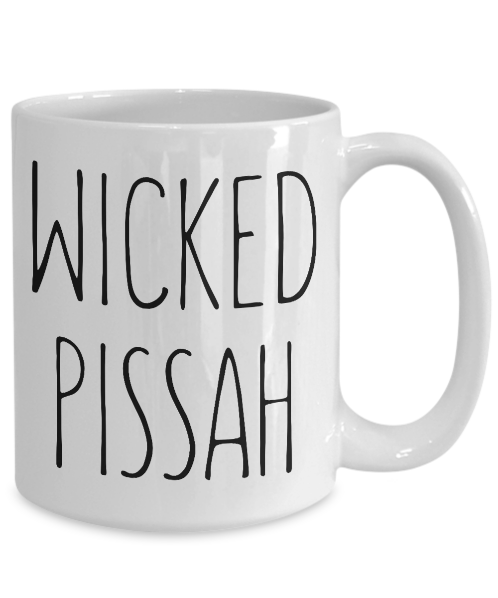 Wicked Pissah Mug Boston Massachusetts Accent Funny Gift Him Boyfriend Husband